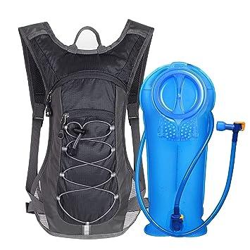 Unigear Mochila Hidratación Mochila Tactica Running Trail con 2L Deposito De Agua Desmontable Bolsa De Agua Múltiples Almacenamiento Compartimiento ...