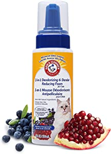 Arm & Hammer Deodorizing & Dander Reducing Grooming Solution for Cats | Cat Shampoo and Foam | Shampoos for Cats with Baking Soda