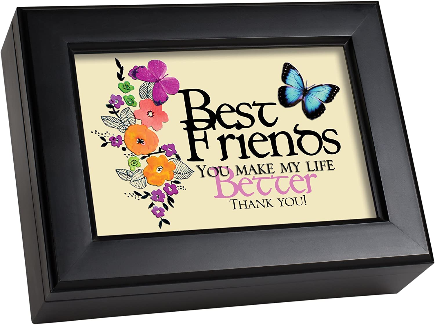 Best Friends negro Cottage Garden tradicional caja de música eso es lo Friends Are para: Amazon.es: Hogar