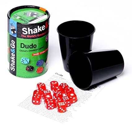 amazon com the purple cow shake and go dudo game toys games