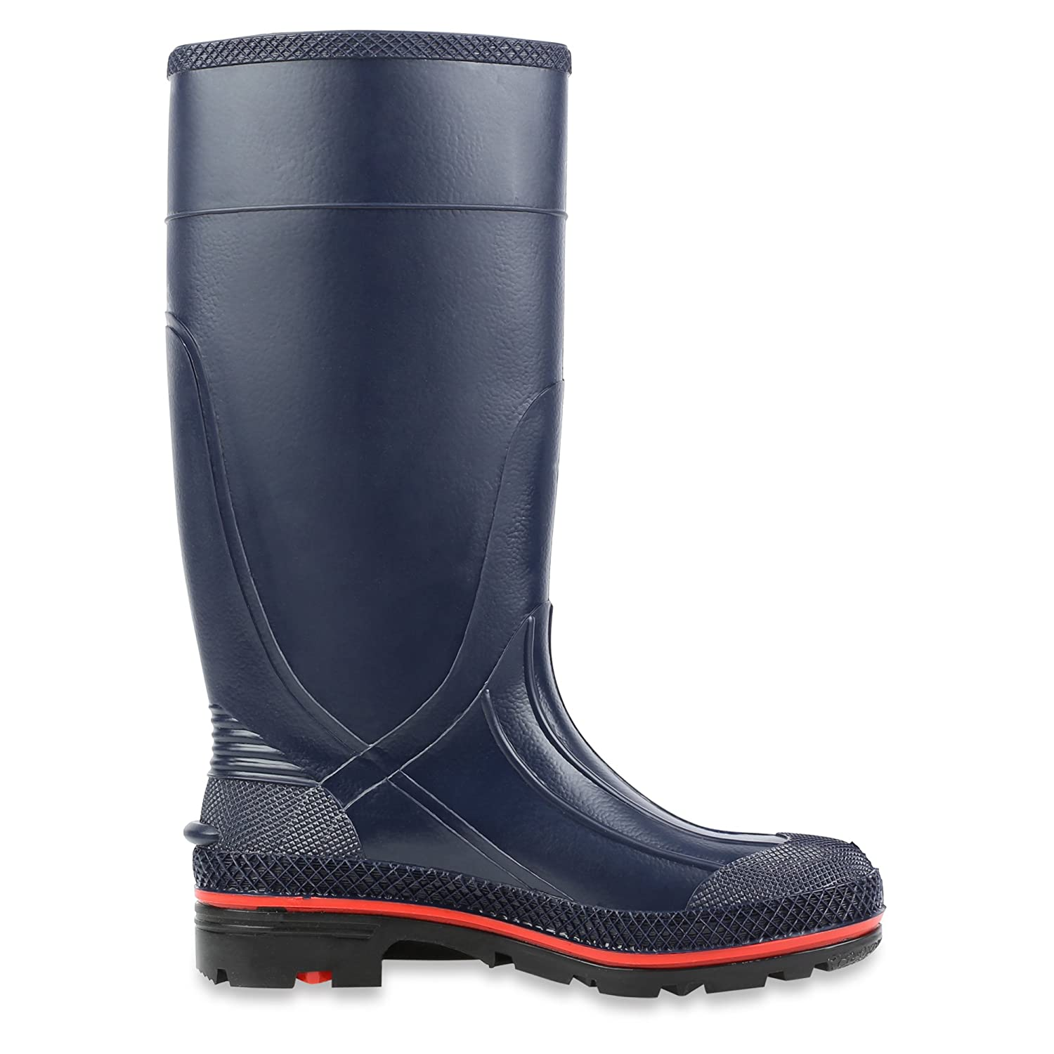 Navy Red /& Black 75126 Servus MAX 15 PVC Chemical-Resistant Soft Toe Womens Work Boots Sperian Protection Group 75126-NVM-100