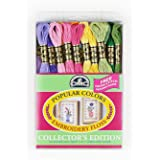 DMC 117F25-PC36 Embroidery Popular Colors Floss Pack, Assorted Color, 8.7-Yard, 36/Pack