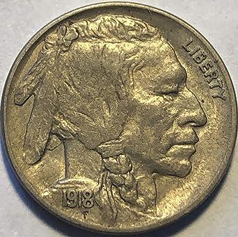 1918 P Buffalo Nickels VG