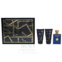 Versace Pour Homme Dylan Blue EDT Spray, Bath & Shower Gel and After Shave Balm Giftset, 150 ml