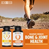Turmeric Curcumin and Ginger with Bioperine 1800 mg - Includes 95% Curcuminoids - Extra Strength Antioxidant for Maximum Joint Comfort and Mobility - Non-GMO & Gluten Free - 90 Veggie Capsules