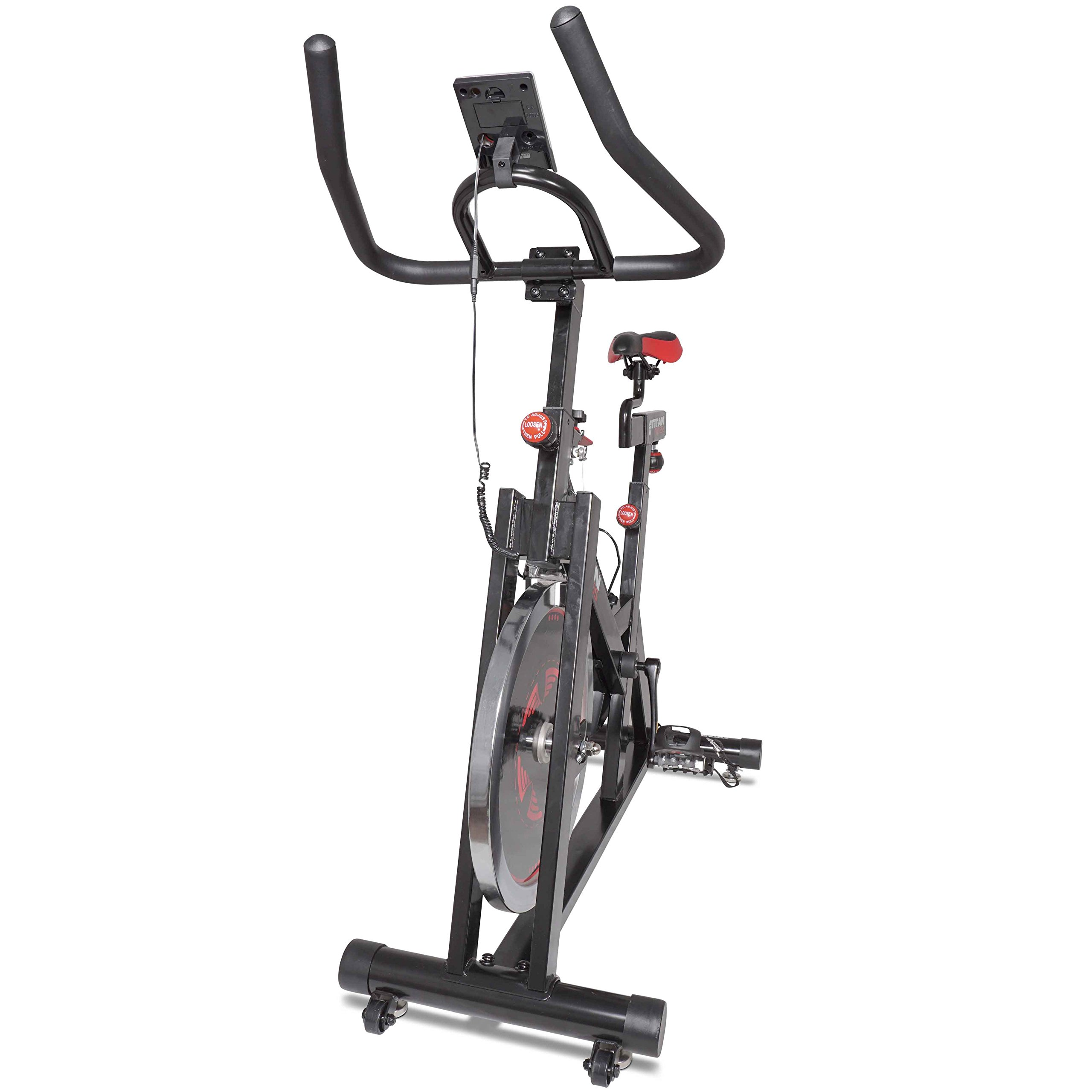 Titan Pro Indoor Exercise Bike w/ 40 lb Flywheel LCD Cycle Cardio Fitness by Titan Fitness (Image #5)