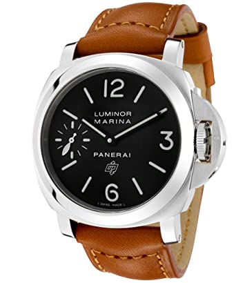 amazon com panerai luminor marina black dial mechanical mens panerai luminor marina black dial mechanical mens watch pam00005