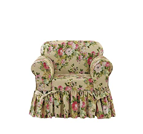 Stupendous Sure Fit Juliet By Waverly One Piece Chair Slipcover Bliss Inzonedesignstudio Interior Chair Design Inzonedesignstudiocom