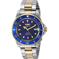 """Invicta Men's 8928OB""""Pro Diver"""" 23k Gold Plating and Stainless Steel Two-Tone Automatic Watch"""