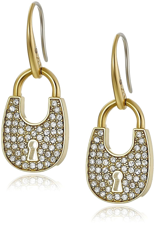 25c6be56a46f68 Amazon.com: Michael Kors Heritage Padlock Gold-Tone Drop Earrings: Jewelry