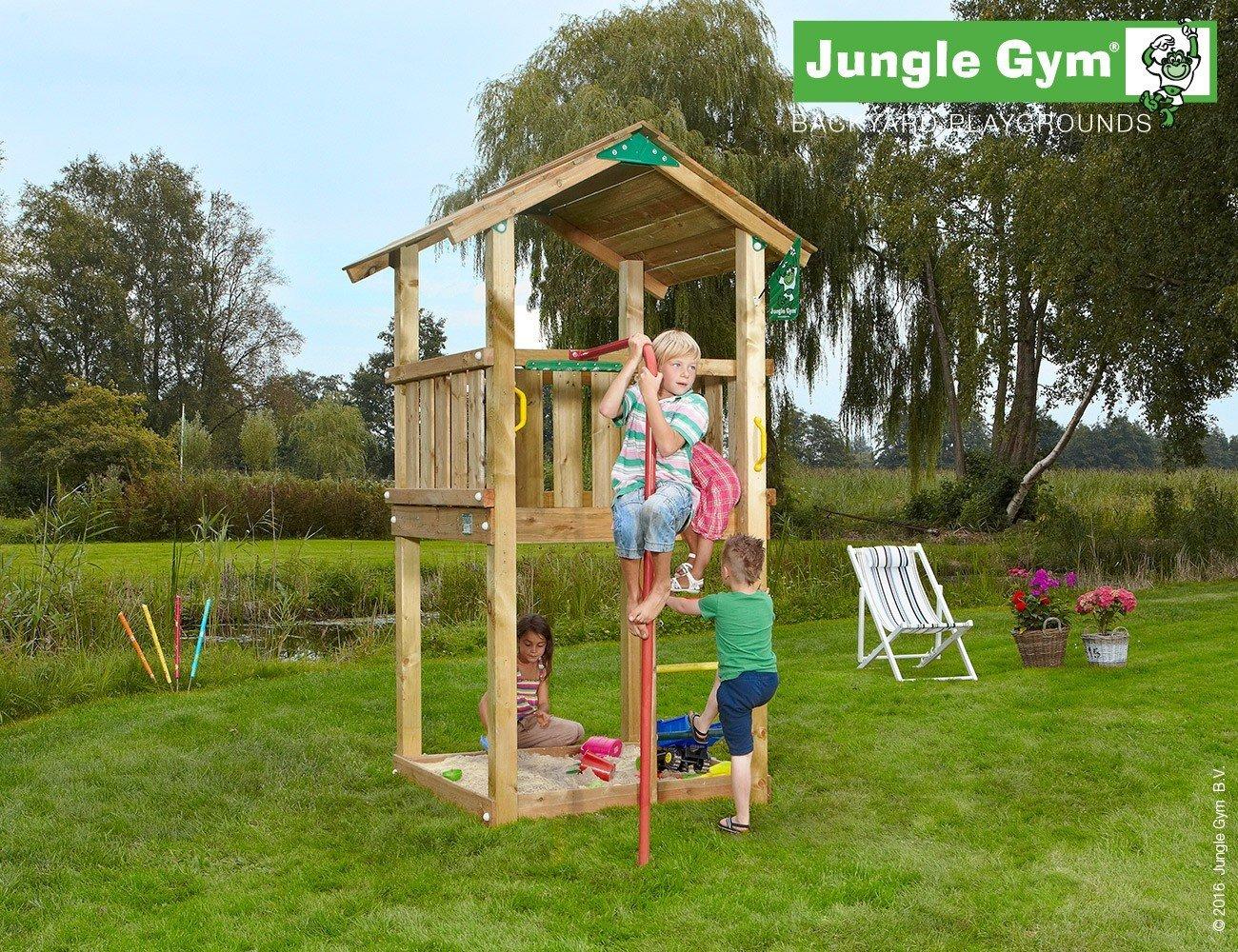 JUNGLE GYM Spielturm Jungle CASA mit Rutschstange, Komplettbausatz