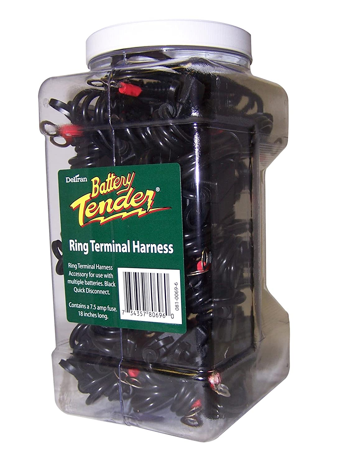 Battery Tender 081-0069-6-J25 Ring Terminal Harness with Fused 2-Pin Quick Disconnect Plug - Pack of 25 Z21-2123
