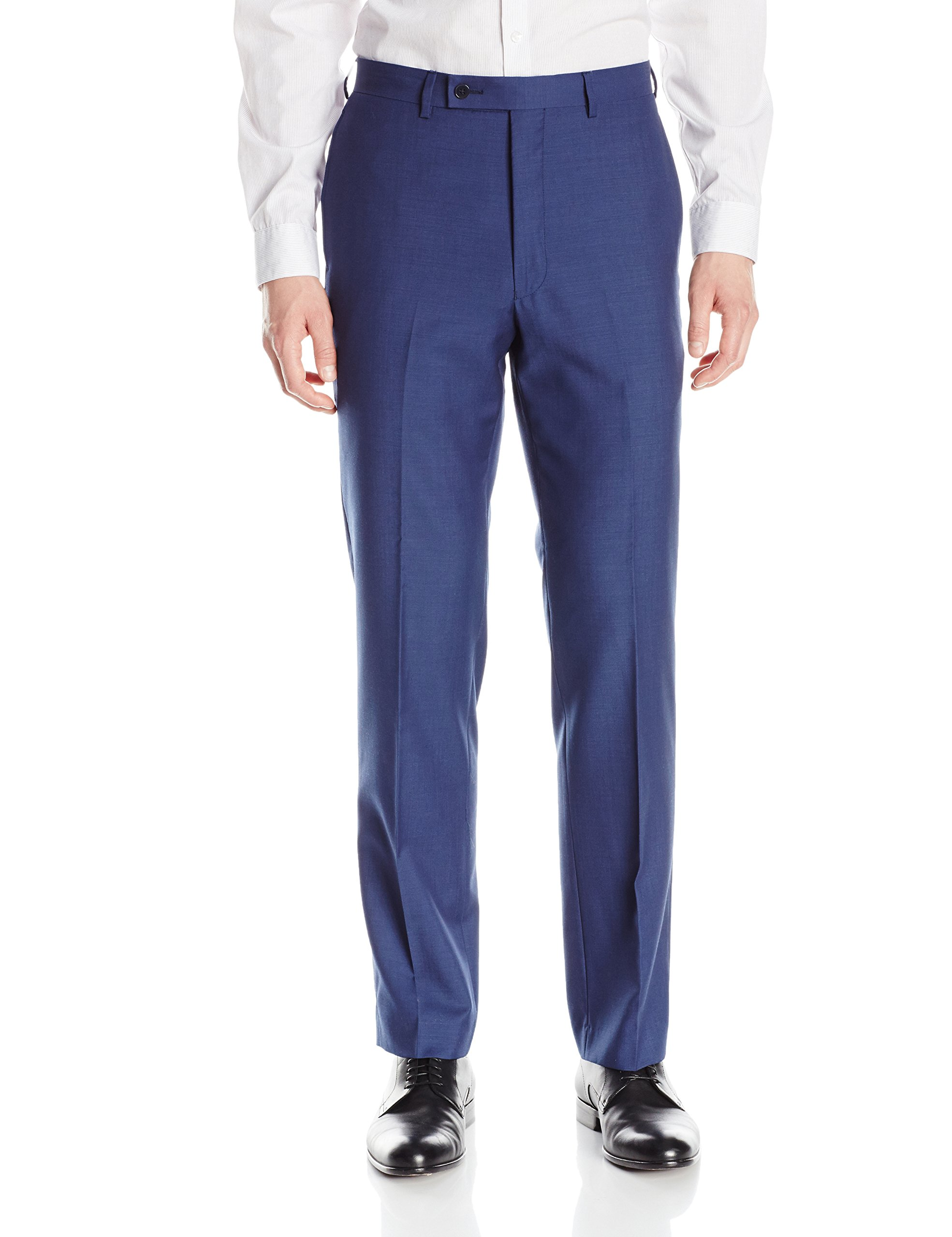 Calvin Klein Men's X-Fit Slim Stretch Suit Separate (Blazer and Pant), Blue Pant, 34W x 30L
