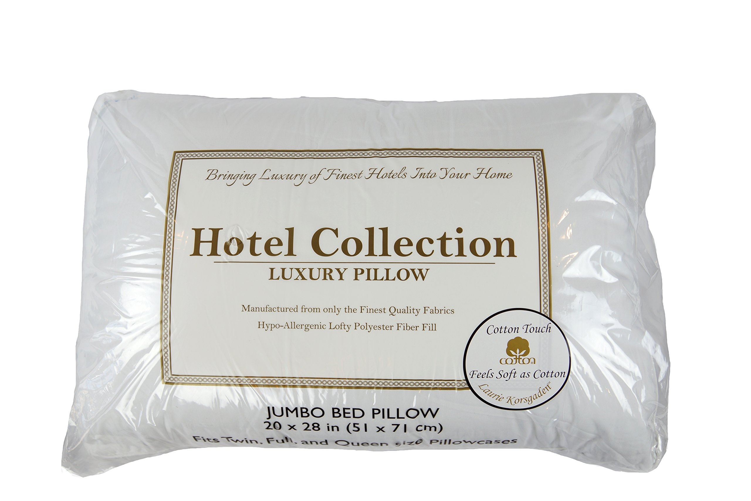 DRB Collection CLTK-2028 Bed Pillow (2 Pack), Jumbo