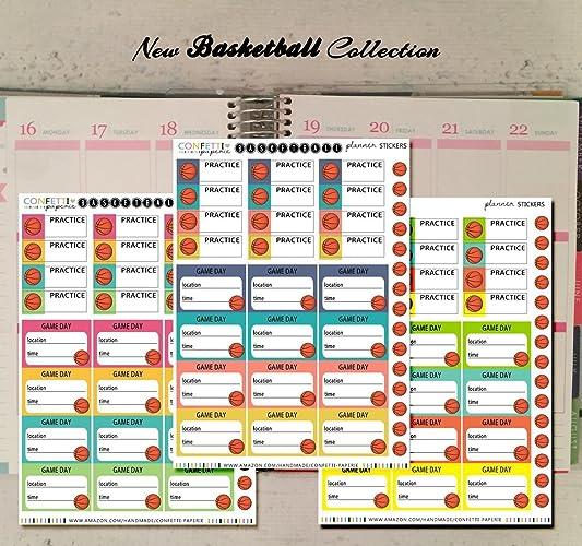Amazon com: NEW Basketball Game, Basketball Practice Icon Planner