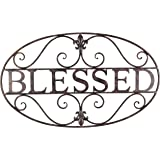 Young's Metal Blessed Wall Sign, 27.75-Inch