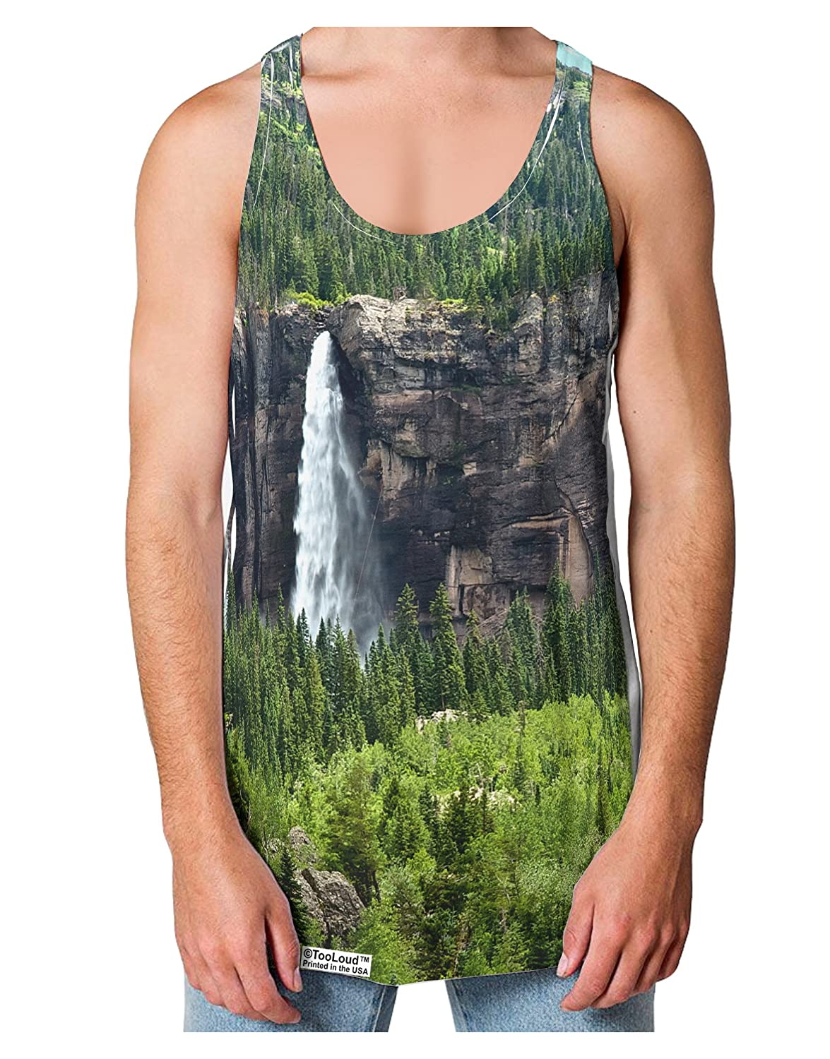 Cliffs Loose Tank Top Single Side All Over Print TooLoud Nature Beauty