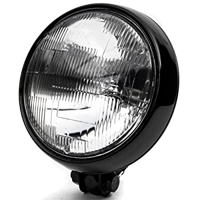 "Krator 6"" Black Motorcycle Headlight Thin Bottom Mounting Running Light High/Low Beam: Automotive"