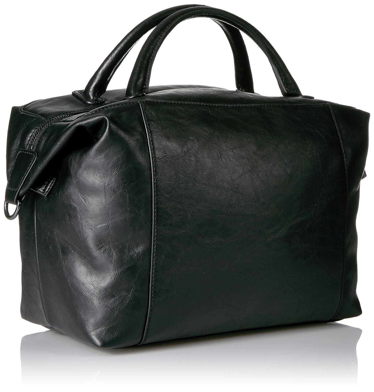 04308849dd25 Amazon.com  A X Armani Exchange Faux Leather Satchel, Black  Clothing