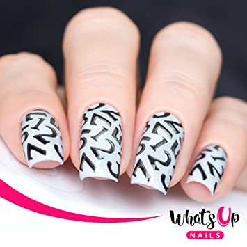 Amazon Whats Up Nails Numbers Nail Stencils Stickers Vinyls
