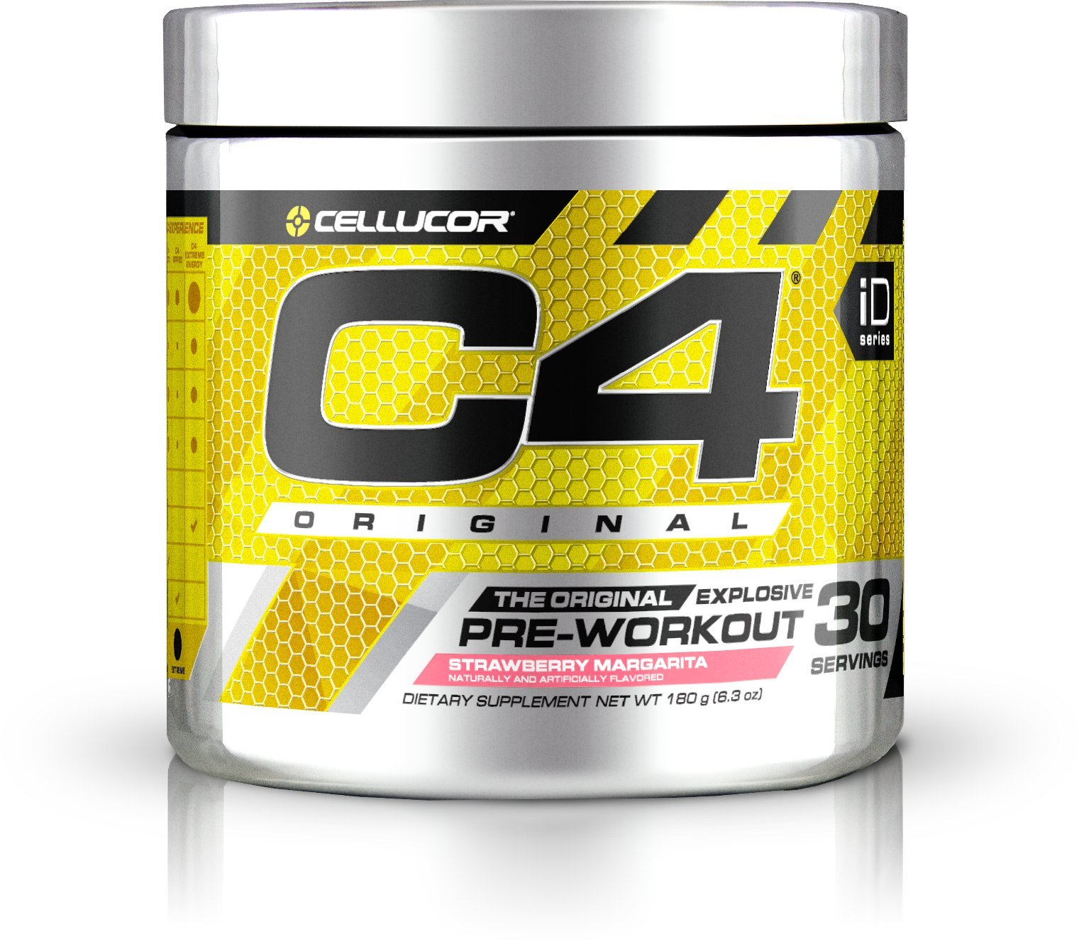 Cellucor C4 Original Pre Workout Powder Energy Drink w/ Creatine, Nitric Oxide & Beta Alanine, Strawberry Mrgarita, 30 Servings