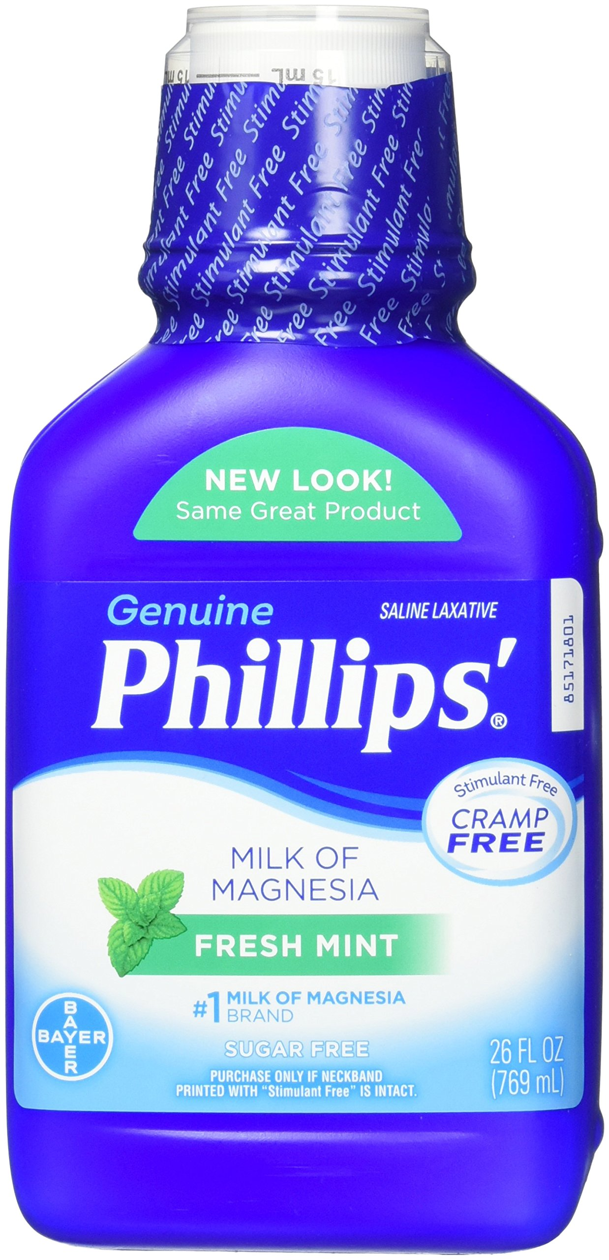 Phillips' Milk of Magnesia Laxative (Fresh Mint, 26-Fluid-Ounce Bottle)