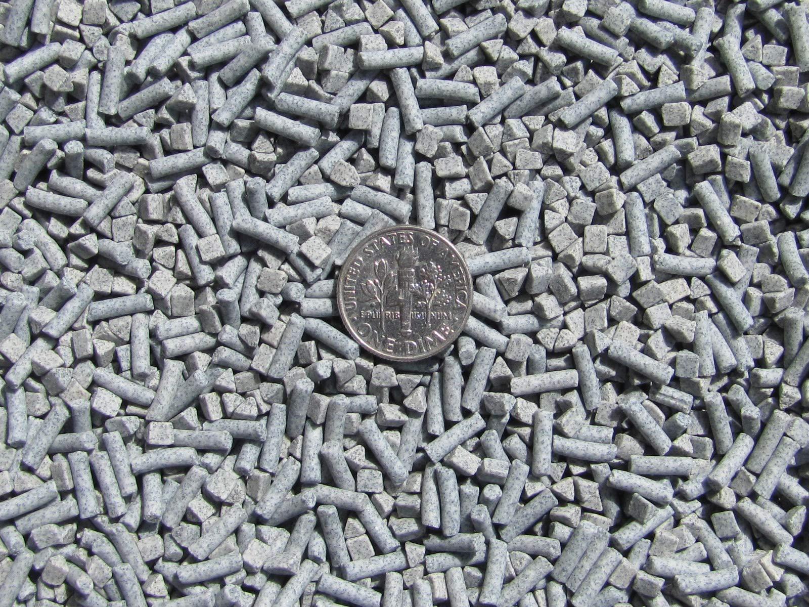8 Lb. 3 mm Triangle & 2.5 X 8 mm Pins Fast Cutting Abrasive Ceramic Porcelain Tumbling Tumbler Tumble Media by Algrium Glassworks (Image #2)