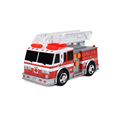 Maxx Action Mini Rescue Vehicle Toy Fire Truck with Extention Ladder and Push Button Lights and Sounds (Colors and Style Purchased May Vary): Toys & Games