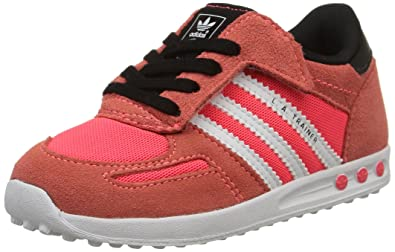 Adidas La Trainer, Zapatillas De Gimnasia para Unisex Niños, Rojo/Blanco, 20: Amazon.es: Zapatos y complementos