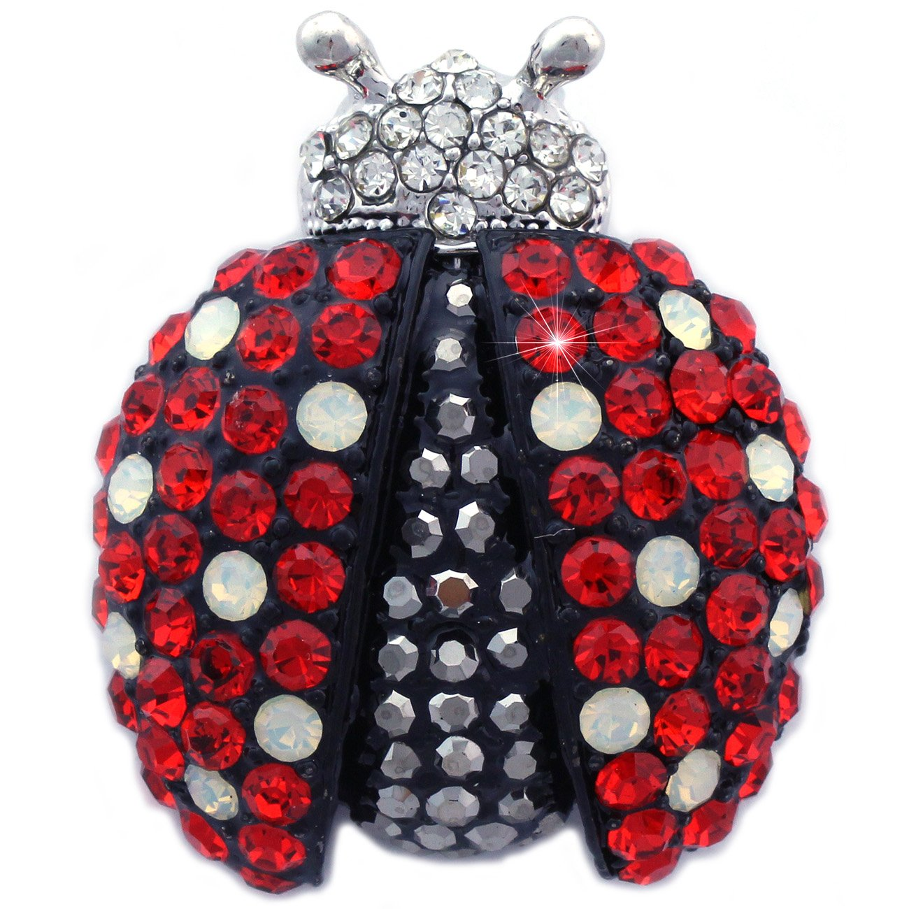 Gorgeous Red Black Ladybug Charm Animal Insect Brooch Pin Women Jewelry