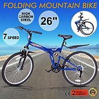 Autovictoria Bicicleta de montaña plegable bicicleta de montaña Shimano suspensión plegable de acero de carbono bicicleta