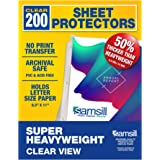 Samsill 200 Super Heavyweight Sheet Protectors, Clear Page Protectors for 3 Ring Binder, 4.7 MIL Thick Top Loading…