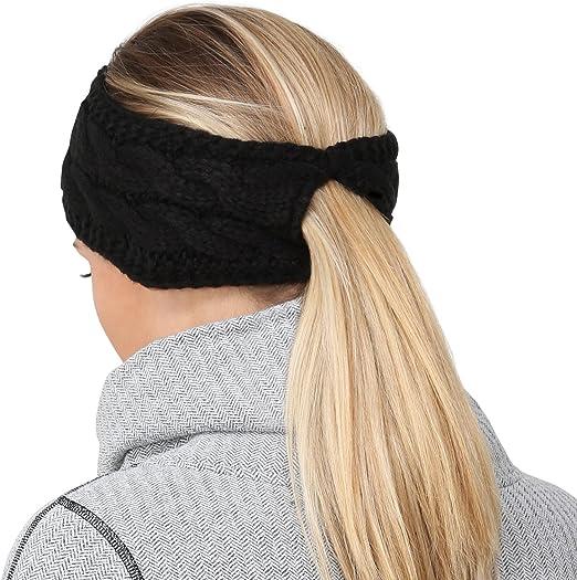 TrailHeads Pferdeschwanz Stirnband mit Zopfmuster Kabelstrick