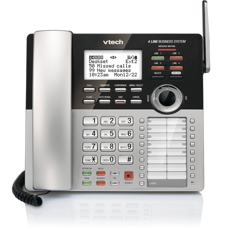 VTech 4-Line Small Business Phone System - Office Starter Bundle with  1 CM18445 Main Console, 1 CM18245 Deskset & 1 CM18045 Handset by VTech (Image #4)