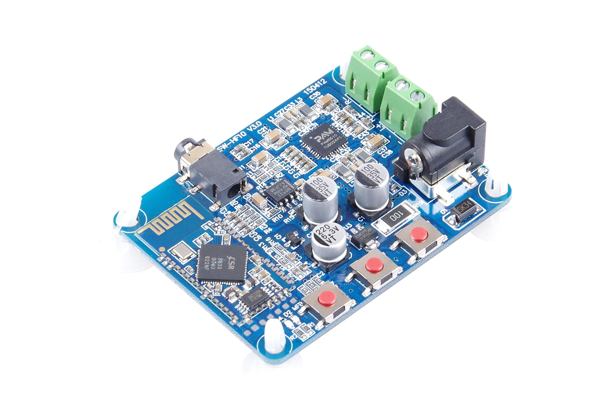 KNACRO 2-Channel Stereo Bluetooth Digital Amplifier Board 10W + 10W V4.0 Bluetooth Backward-compatible DC12V Power Supply