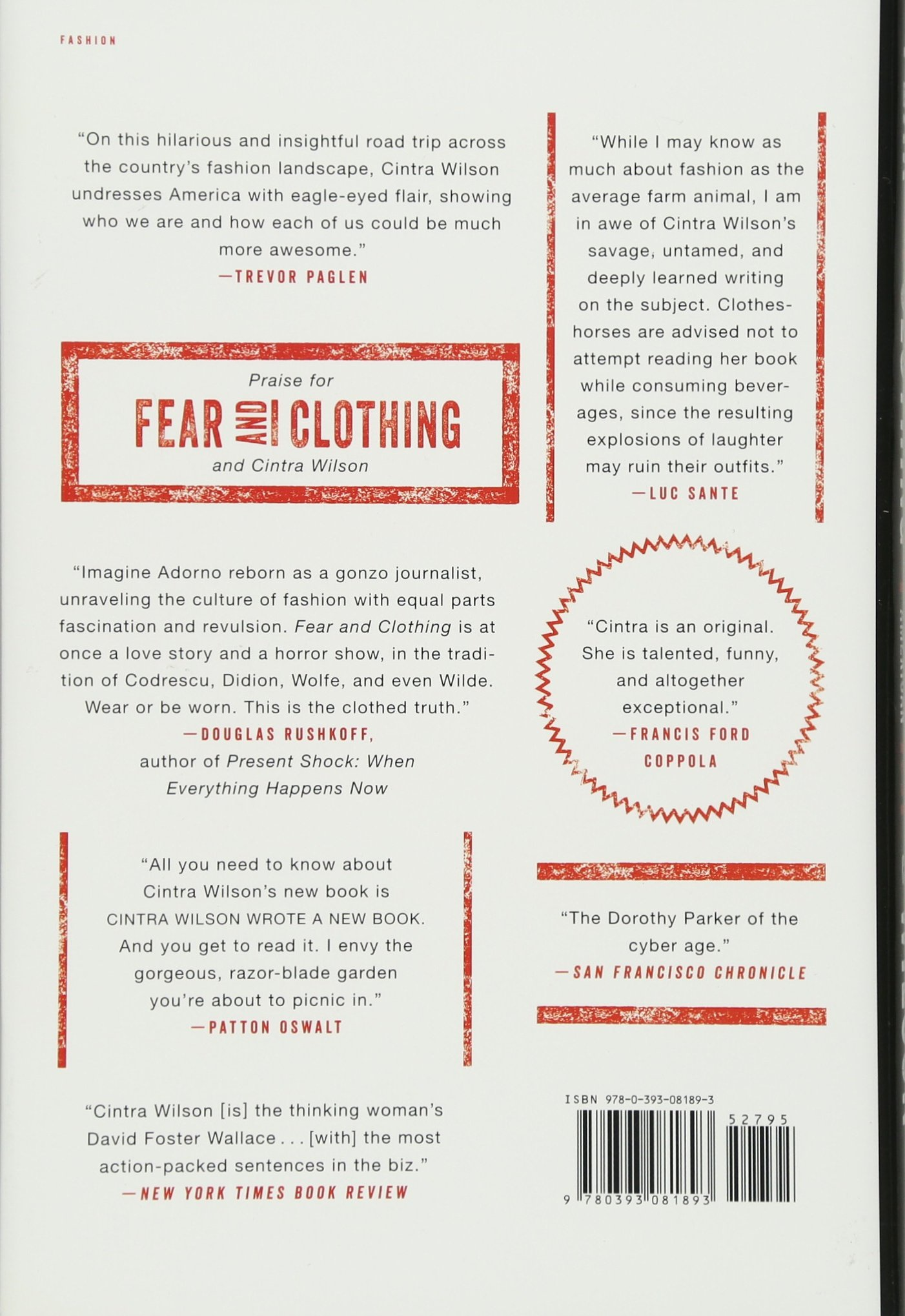 Fear And Clothing: Unbuckling American Style: Cintra Wilson: 2015393081893:  Amazon: Books