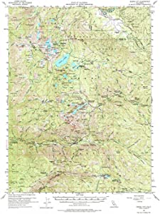 YellowMaps Sierra City CA topo map, 1:62500 Scale, 15 X 15 Minute, Historical, 1955, Updated 1977, 21.7 x 16.7 in