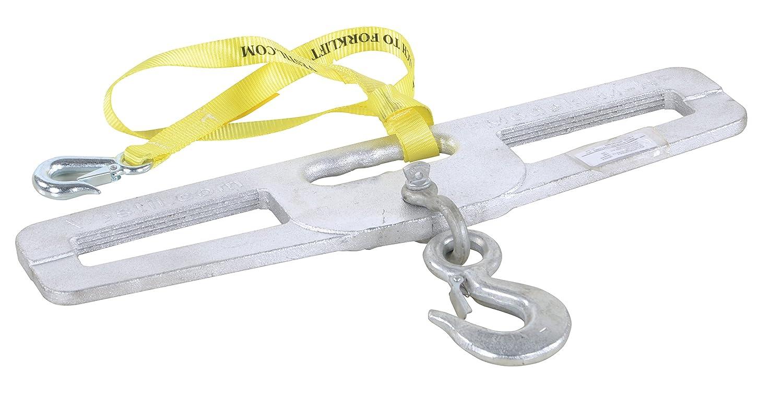 6 x 24 Rigid Hook Capacity 4000 lb Vestil LM-HP4-R Steel Lift-Master Hook Plate