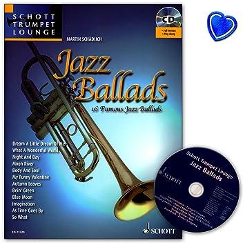 Jazz Ballads – 16 famosos baladas para trompeta de la serie Schott Trumpet Lounge – libro