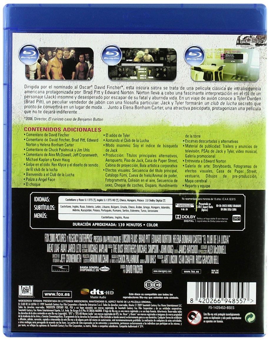 El Club De La Lucha [Blu-ray]: Amazon.es: Brad Pitt, Edward ...