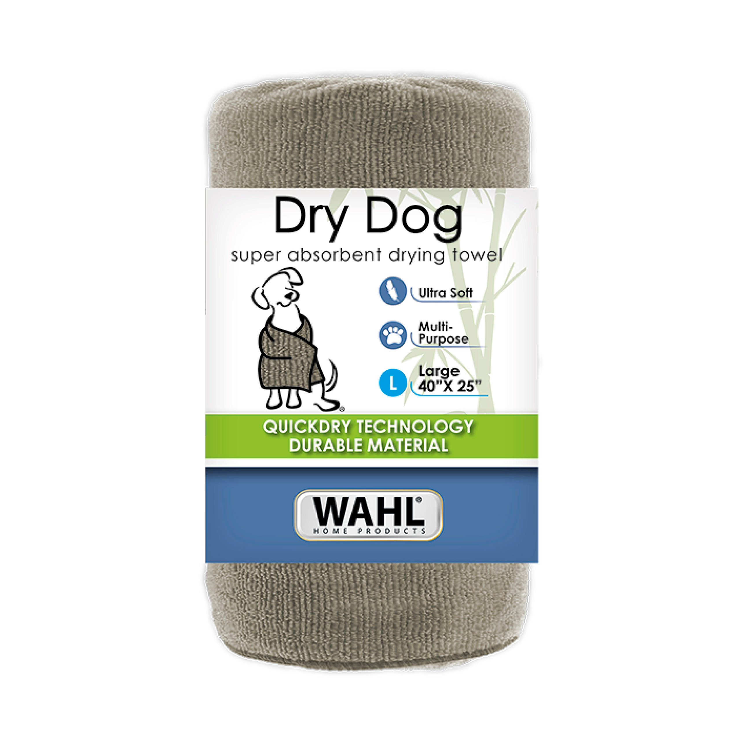 Wahl 40 x 25 Large Drying Dog Towel Tan 858489 Absorbent Soft Fabric Dog Towel for Grooming and Bathing by Wahl (Image #1)