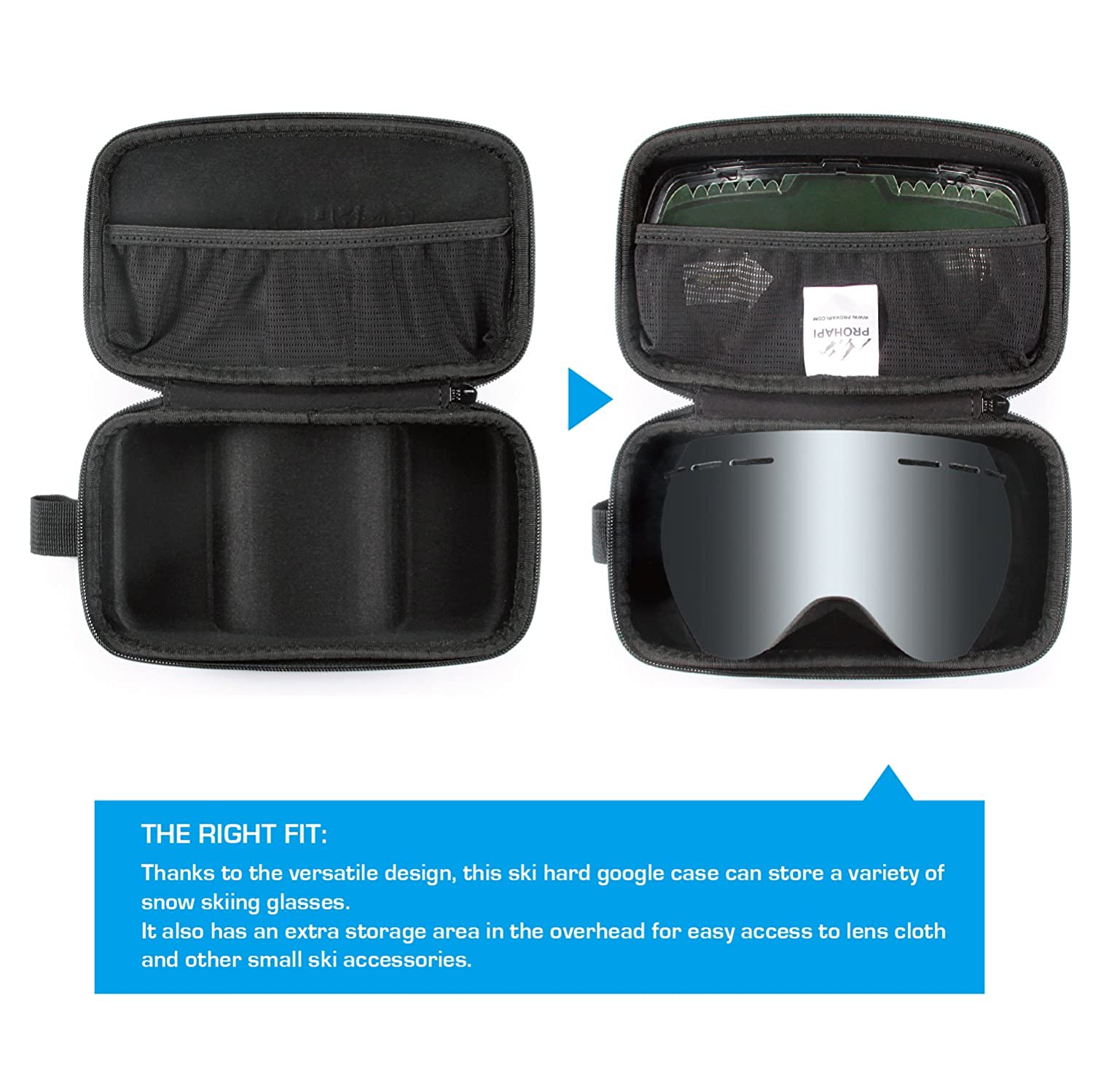 0bd33bffd1ee Amazon.com   PROHAPI Snow Goggles Case
