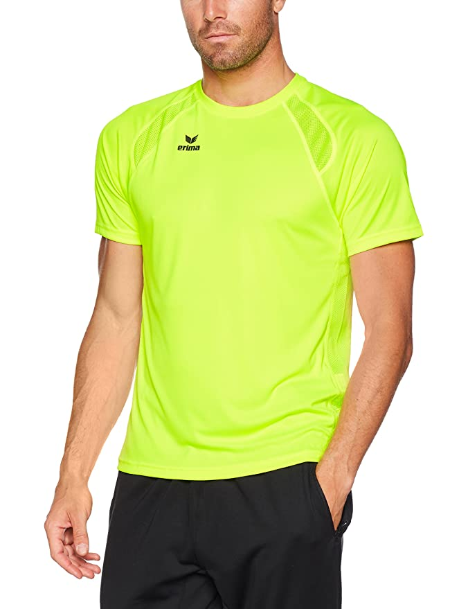 Compra camiseta de manga corta para hombre en color amarillo fluorescente