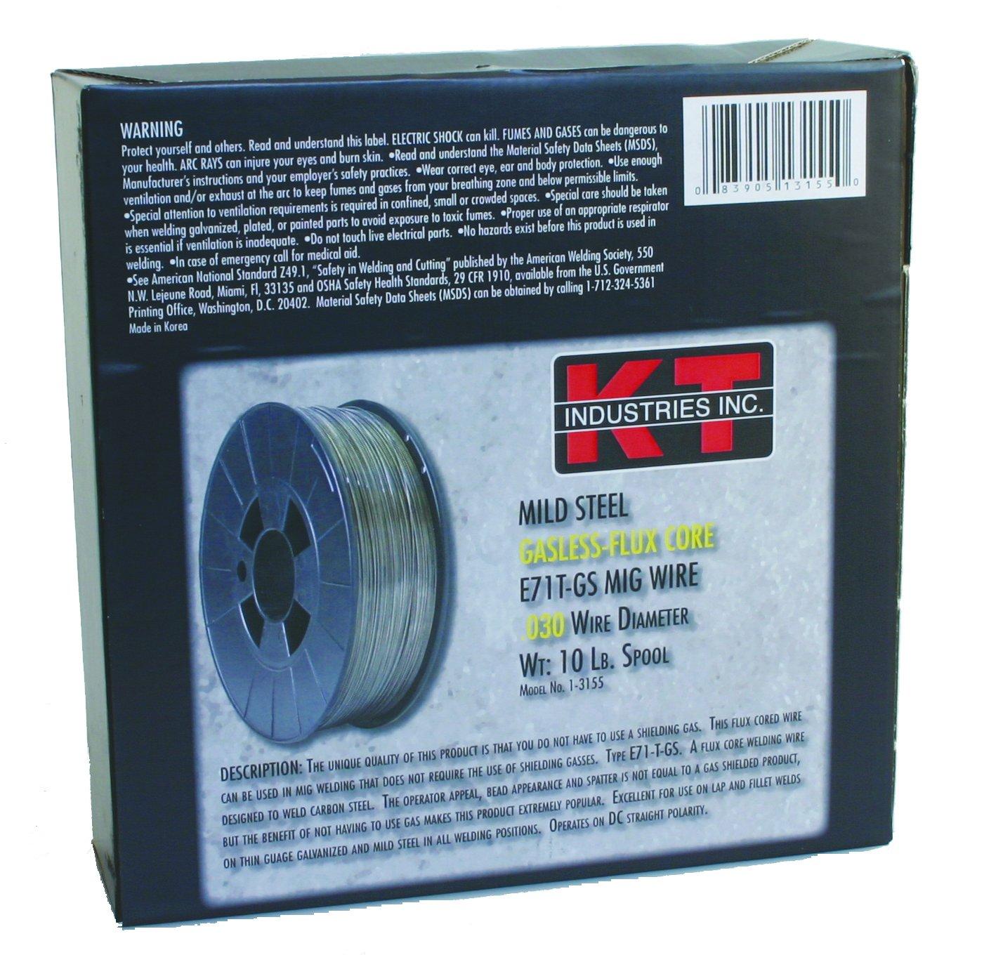 K-T Industries 0.035 Flux Core Mig Wire, 10-pound - Mig Welding ...