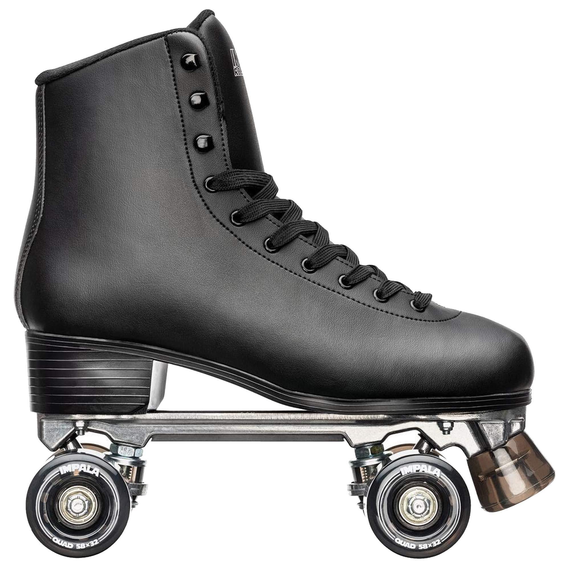 Impala Rollerskates Unisex Impala Quad Skate (Big Kid/Adult) Black 7 (US Men's 5, Women's 7) M