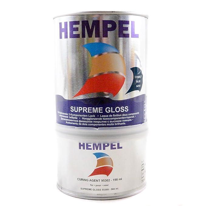 HEMPEL Supreme Gloss | 2-K Lack Farbe | 750 mL, Farbe:Kobalt: Amazon ...