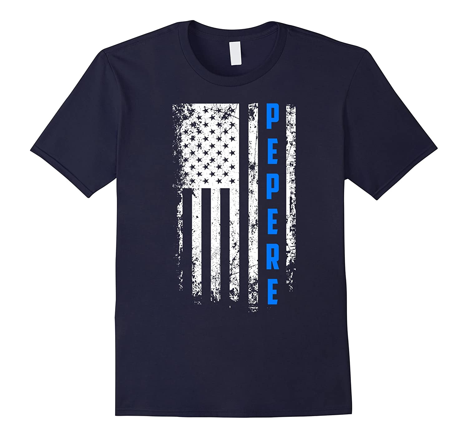 Father's Day Gift American Blue Pepere flag t-shirt-Art