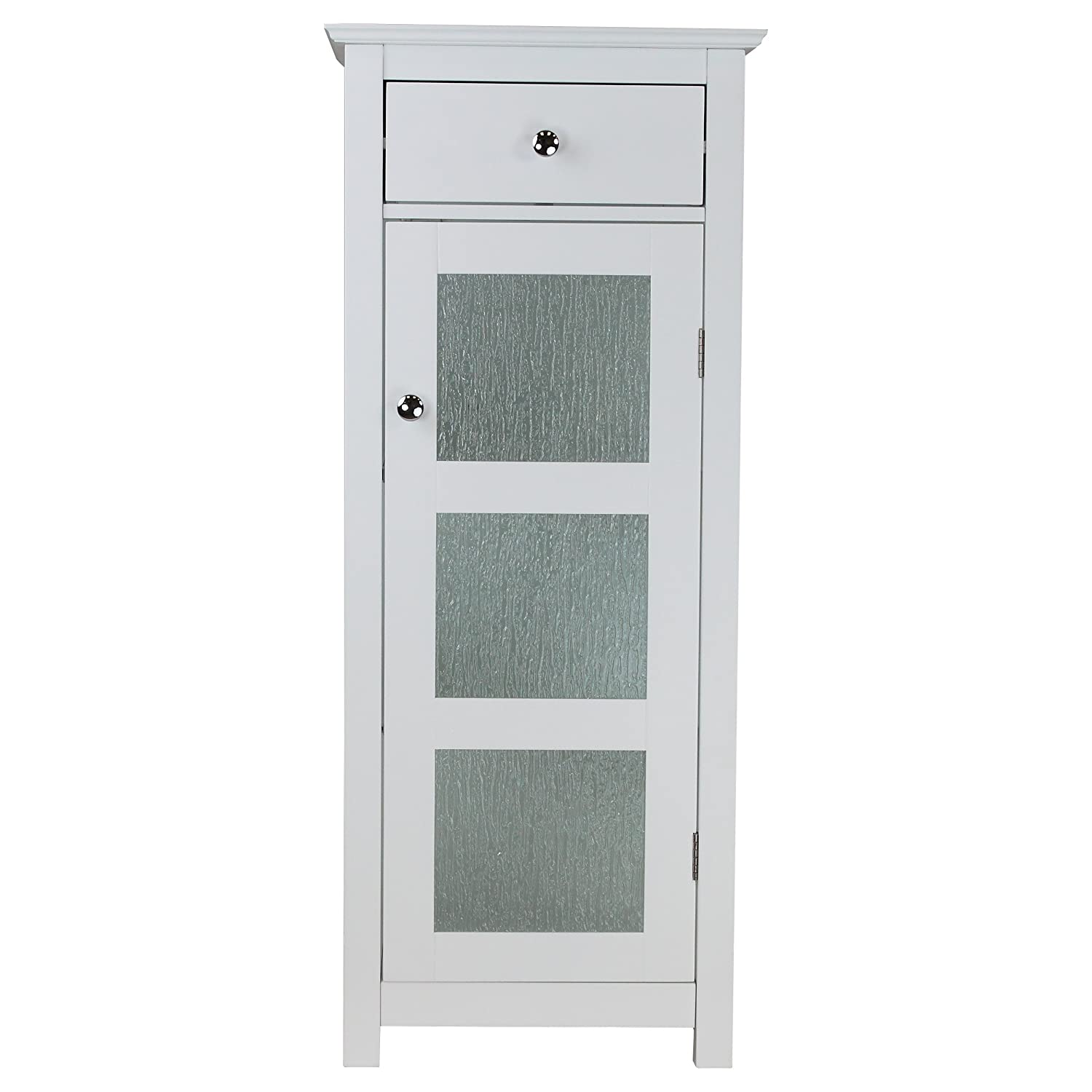 Amazon.com: Elegant Home Fashions Rain Floor Cabinet With 1 Door And 1  Drawer, White: Kitchen U0026 Dining