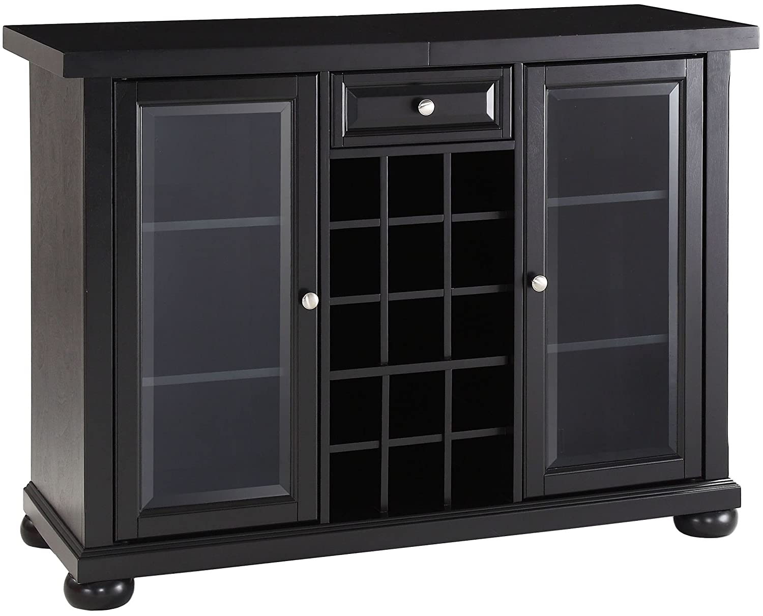 Crosley Furniture Alexandria Sliding Top Bar Cabinet – Black