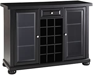 Crosley Furniture Alexandria Sliding Top Bar Cabinet - Black